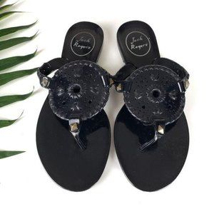 Jack Rogers Georgica Jelly Thong Sandals Size 5